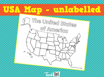 USA Map - unlabelled