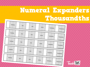 Numeral Expanders Thousandths