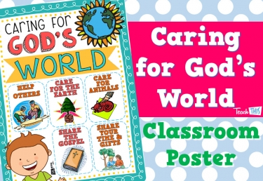 Caring For God's World Poster