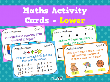 Maths Activity Cards - Lower