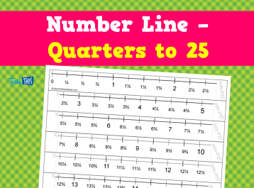 Number Line - Quarters to 25
