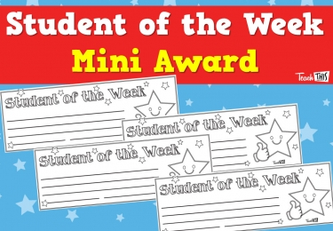 Student of the Week Mini Award