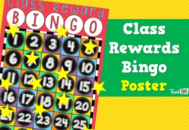 Classroom Rewards Bingo