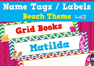 Editable Name Tags/Labels - Beach Ver.2