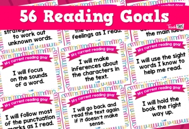Reading Goal Cards