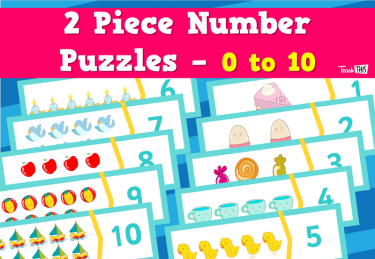 2 Piece Number Puzzles - 0 to 10