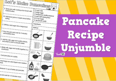 Pancake Recipe - Unjumble