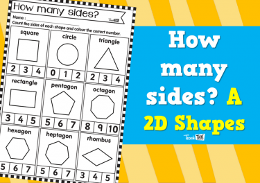 How many sides? A - 2D Shapes