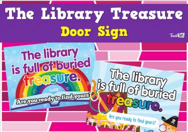 The Library Treasure - Door Sign