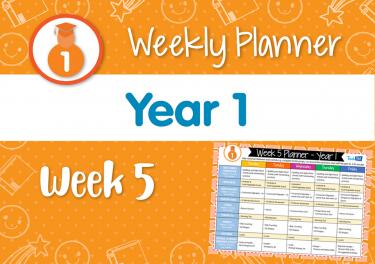 Weekly Planner - Year 1 Week 5