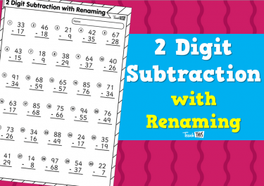 2 Digit Subtraction with Renaming
