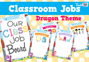 Classroom Jobs A4 - Dragons Theme