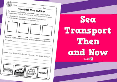 Sea Transport Then and Now