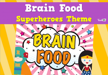 Brain Food - Superheroes Theme