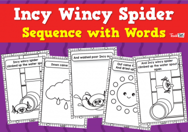 Incy Wincy Spider - Sequence with Words