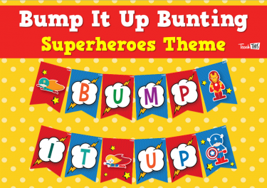Bump It Up Bunting - Superheroes Theme