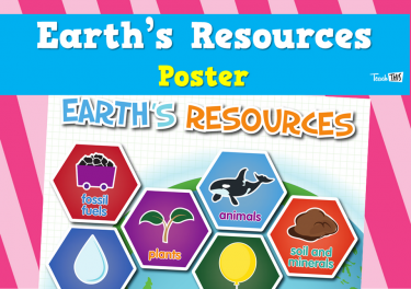 Earth's Resources - Poster