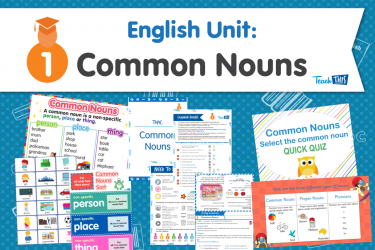 English Unit: Common Nouns