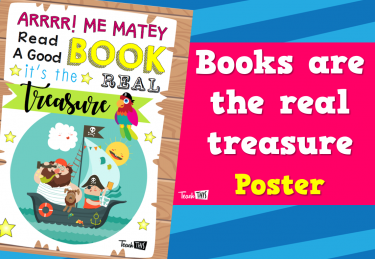 Books Are The Real Treasure - Poster