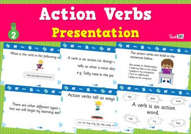 Action Verbs - Presentation