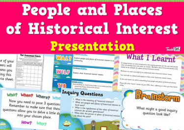 People and Places of Historical Interest - Presentation