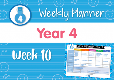 Weekly Planner - Year 4 Week 10