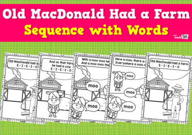 Old MacDonald Had a Farm - Sequence with Words