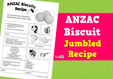 ANZAC Biscuits - Jumbled Recipe