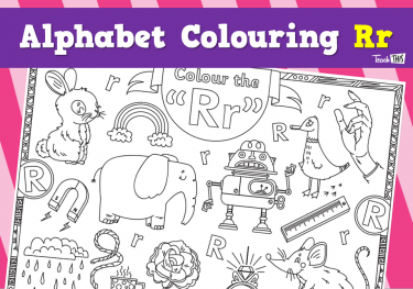 Alphabet Colouring Rr