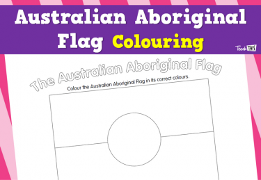 Australian Aboriginal Flag Colouring
