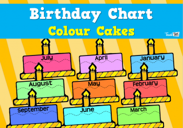 Birthday Charts - Colour Cakes