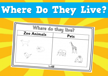 Where do they live? - Worksheet