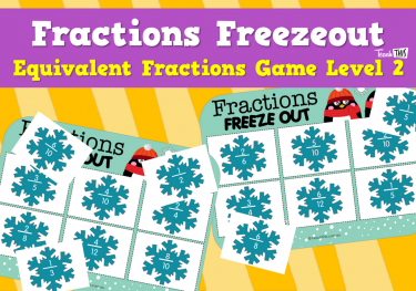 Fractions Freezeout - Equivalent Fractions Game Level 2