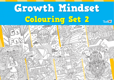 Growth Mindset Colouring - Set 2