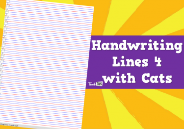 Handwriting Lines 4 - with Cats