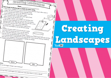 Creating Landscapes - Worksheet
