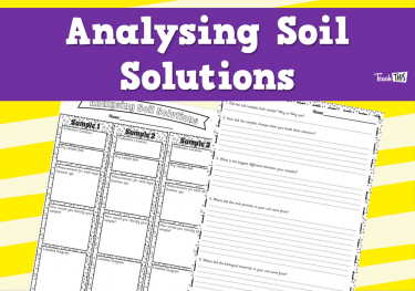 Analysing Soil Solutions - Worksheet
