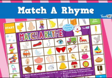 Match A Rhyme - Pictures