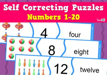 Numbers 1- 20 - Self Correcting Puzzles