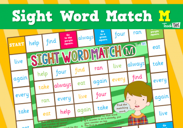 Sight Word - Match M