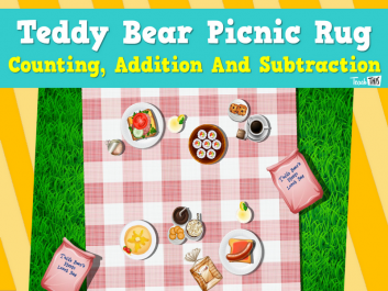 Teddy Bears Picnic Rug - Counting, Addition and Subtraction