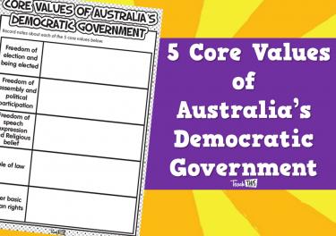 5 Core Values of  Australia's Democratic Government