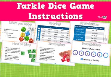 Farkle Dice Game Instructions