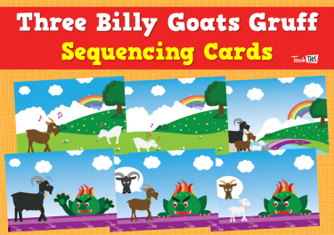 The Three Billy Goats Gruff Sequencing Cards