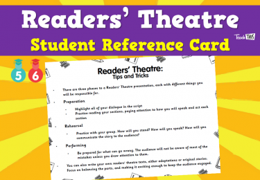 Readers' Theatre - Student Reference Card