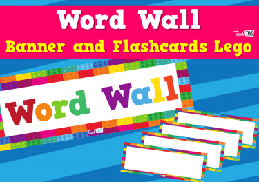Word Wall Banner and Flashcards - Lego Theme