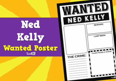 Ned Kelly - Wanted Poster