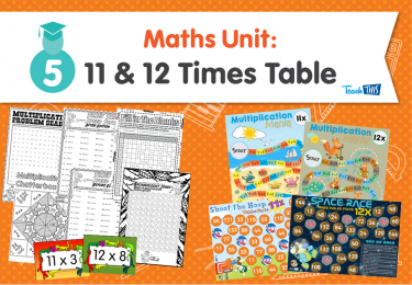 Maths Unit: 11 and 12 Times Tables
