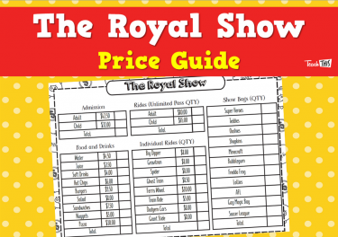 The Royal Show Price Guide