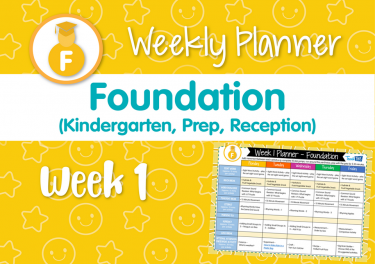 Weekly Planner - Foundation Week 1